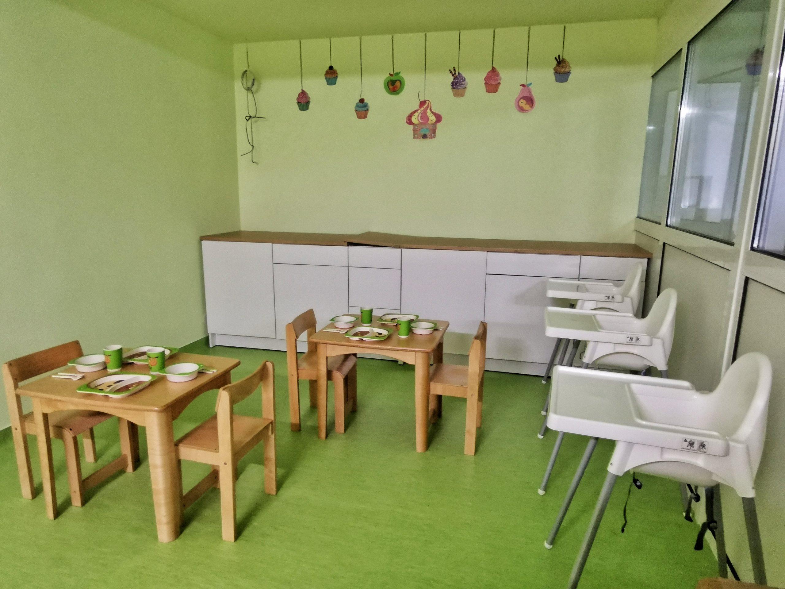 Centru Educațional Grădiniță Sala Masă Alimentație Sănătoasă